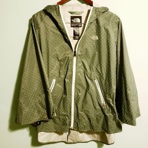 Like New! 💚 North Face Poncho Green & White